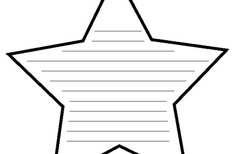 Education World: Star Shapebook (Lined) Template