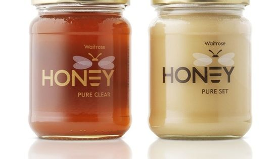 honey logo & packaging. love how the e is the bee. and