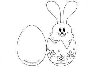 Craft A Easter Bunny Card Easter Templates Card Templates Easter