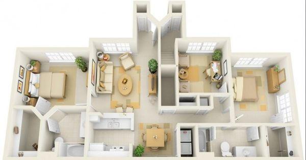Cheap 3 bedroom house plans 100 thi t k ph ng ng p pinterest house plans bedroom - Cheap three bedroom house plans ...