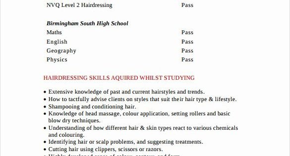 Hair Stylist Resume Template Free New Hair Stylist Resume 8 Free Download Documents In Pdf Resume Tips Sample Resume Resume