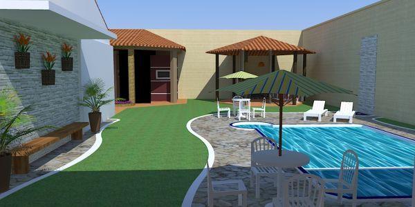 Projetos De Casas Com Piscina Nos Fundo Do Terreno Casas Com