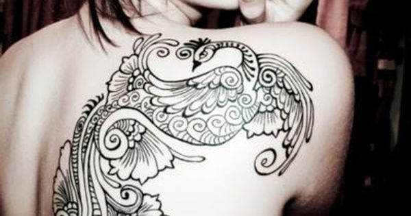 Bird Tattoo Designs For Girls | Shoulder Tattoo Peacock Tattoo Design For