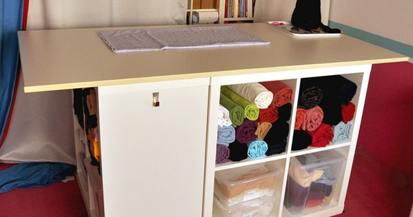 ikea kallax hack schneidetisch mobiler n h und schneidetisch pinterest ikea kallax hack. Black Bedroom Furniture Sets. Home Design Ideas