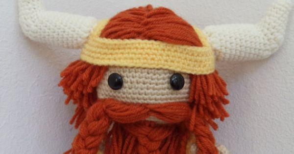 Norse/ Viking Sackboy Amigurumi crocheted stuffed doll by ...