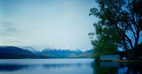 Mikkel Vang. Lake near Christchurch.