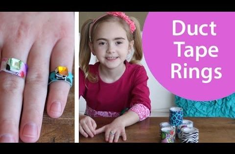 How To Make Duct Tape Rings Video Tutorial Cute Craft