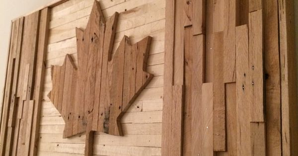 Canadian Flag Pallet Wood Build Ideas Pinterest