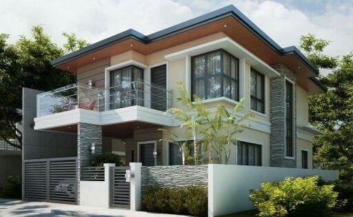Window design and house color scheme architecture for Terrace color combination