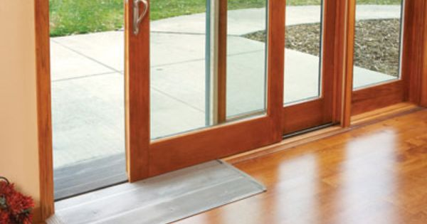 Universal Design Option: Aluminum Sill Ramp Kits For Ultra And Heritage  Series Wood Garden Aire Sliding Patio Doors Allow A Smooth Transition Into U2026
