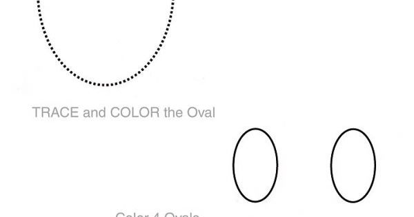 Shapes Worksheet - Oval