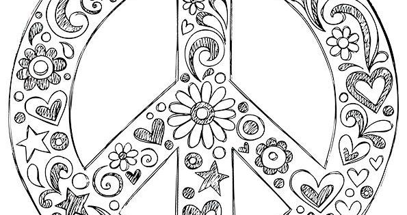 Small peace sign coloring pages ~ Simple and Attractive Free Printable Peace Sign Coloring ...