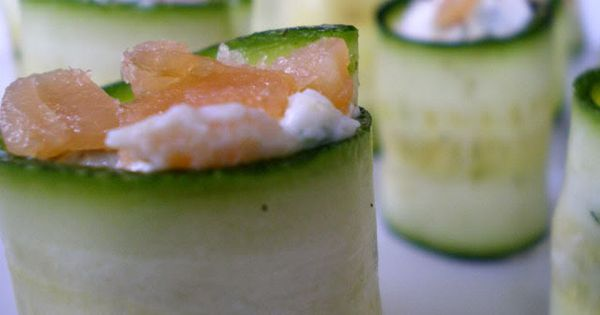 zucchini rolls with cream cheese and salmon | Zucchini 101 ...