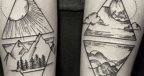 The four elements draw pinterest tatouages id es - Tatouage 4 elements ...
