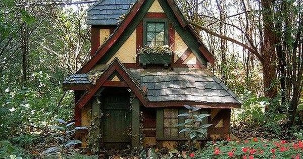 Witch S Cottage In The Enchanted Woods Forest Fairytale Cottage Building A Tiny House Cottage In The Woods