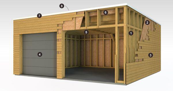 Garage ossature bois ossature bois doubs bois passion for Garage extension maison