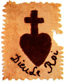 Insignia Of The Vendean Royalist Insurgents Note The French Words Dieu Le Roi Beneath The Heart And Cross Meani Catholique Les Chouans Revolution Francaise
