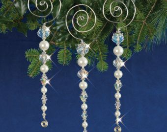 Diy Kit Beaded Icicle Ornaments Set Of 5 By Rustifistication