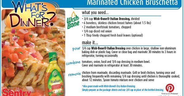 ... from Sentry | Pinterest | Marinated Chicken, Bruschetta and Chicken