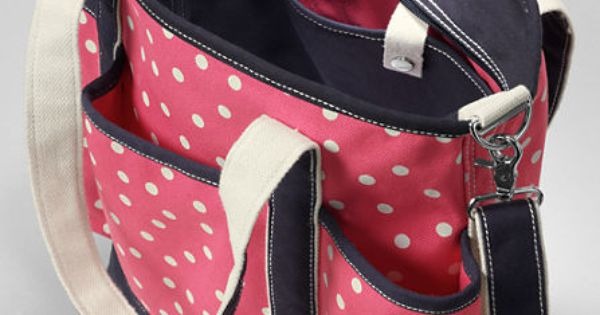 print canvas diaper bag with changing pad from lands 39 end get your grandma on pinterest. Black Bedroom Furniture Sets. Home Design Ideas