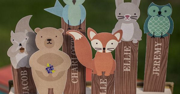 woodland animals bookmarks printable by lia griffith  make