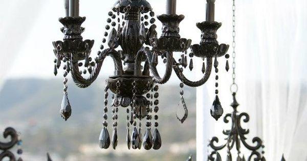 black chandeliers  샹들리에  Pinterest  샹들리에