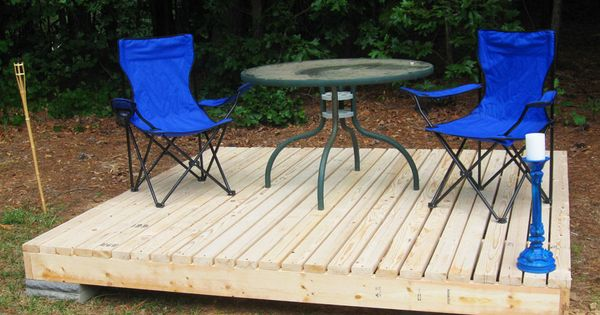 Simple floating deck deck design decking and floating deck for How to build a cheap floating deck