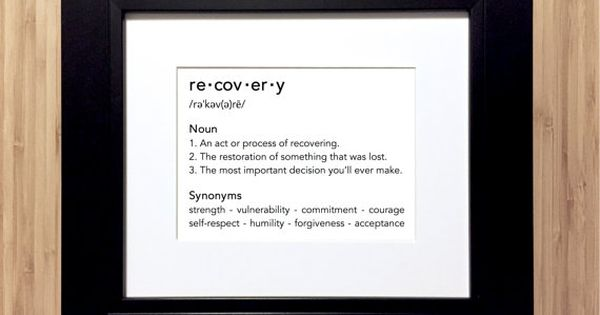 ... recovery, sober, overcoming addiction, in aa, na. Unframed - Gifts