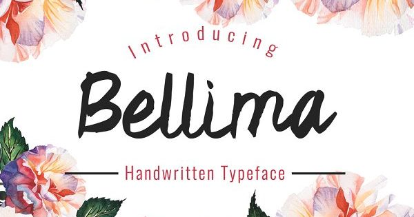 Bellima Typeface – handwriting font perfect for your wedding invitation Card