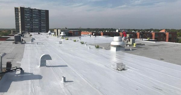 Did You Know This Rainy Weather Can Cause Problems For Your Flatroof Investing In A Gaco Roof Sealant Can Protect Building Structure Flat Roof Roof Sealant