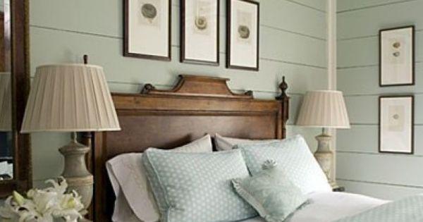 Mooie rustige slaapkamer in munt kleuren tref hout munt mint romantisch slapen bed - Volwassen slaapkamer lay outs idee ...