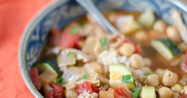 Chickpea And Arugula Soup With Parmesan Recipe — Dishmaps