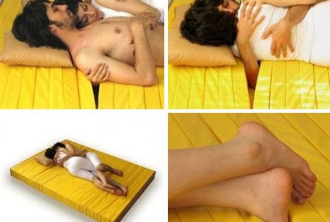 cuddling bed!!! via awesome inventions
