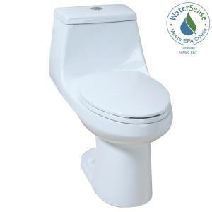 Glacier Bay 1 Piece 1 1 Gpf 1 6 Gpf High Efficiency Dual Flush