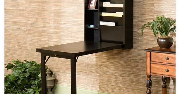 Space saving pull down writing desk or table flexible writing station shop pinterest for - Office opslag tip ...