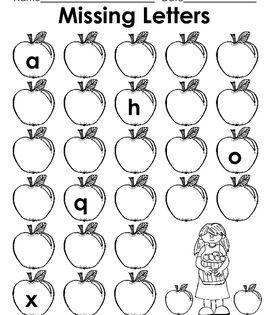 A Year Of Missing Lowercase Letters Alphabet Worksheets Preschool Alphabet Worksheets Kindergarten Alphabet Activities Preschool Missing letter worksheet for kids