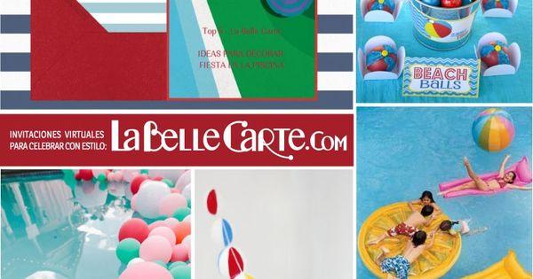 Invitaciones de cumplea os fiesta en la piscina ideas for Ideas para cumpleanos en piscina