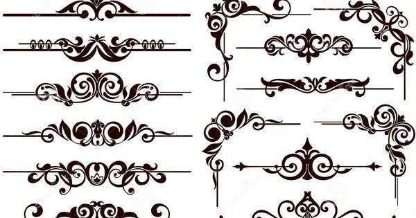 Vector Ornaments Frames, Corners, Borders Stock Vector