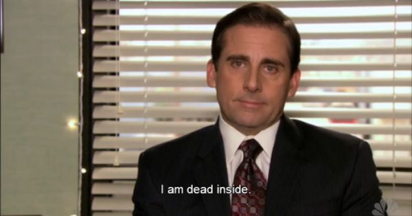 I'm dead inside | The office show, Michael scott quotes, Office quotes