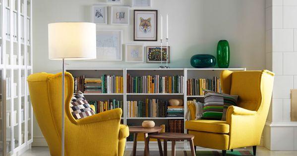 Rinc n de lectura sillones amarillo sillas sillones y - Sillones para lectura ...