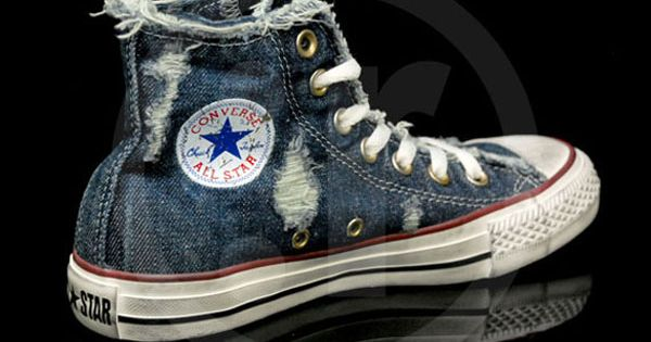 converse-chuck taylor all star denim-distressed- You do not know how much I want these.