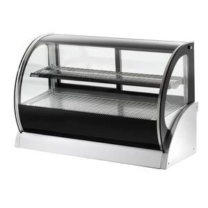 Vollrath 40854 Rde8160 Curved Glass Countertop Refrigerated Display Cabinet 60 Deck 1 She Countertop Display Case Glass Display Case Countertop Display