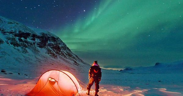 Abisko, in the middle of the auroral zone, is considered to be