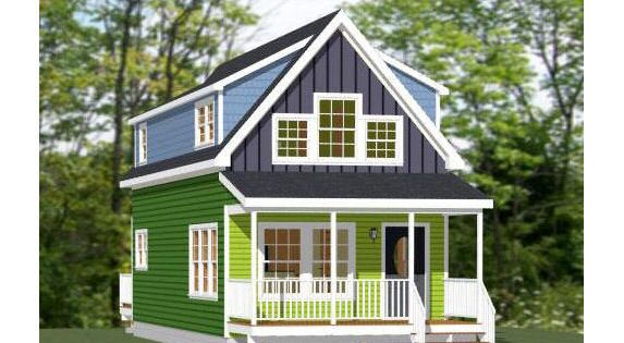 16x40 House 1 193 Sq Ft Pdf Floor Plan Instant Download Model 1 In 2020 With Images Floor Plans Home Addition Plans Shed Plans