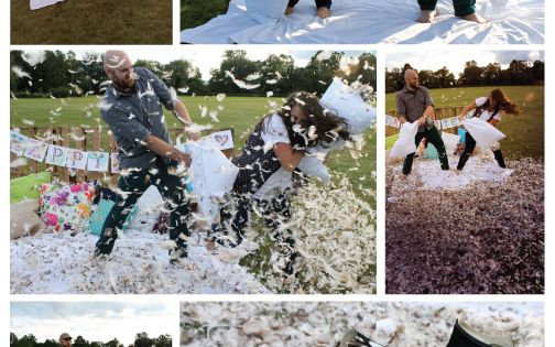 Traditional Pillow Fight : 2nd Anniversary Photo Shoot: Pillow Fight! Cotton is the traditional 2nd year anniversary gift ...