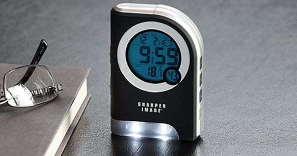 Travel Alarm Clock With Dual Led Flashlight Sharper Image Travel Alarm Clock Alarm Clock Clock