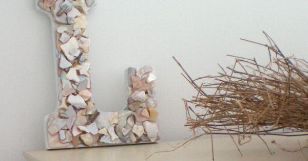 Sea Shell Letter Beach Decor