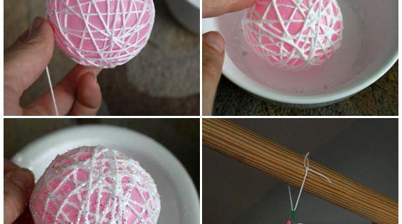 string ornament photo tutorial: Un tutorial su come realizzare dei simpatici addobbi
