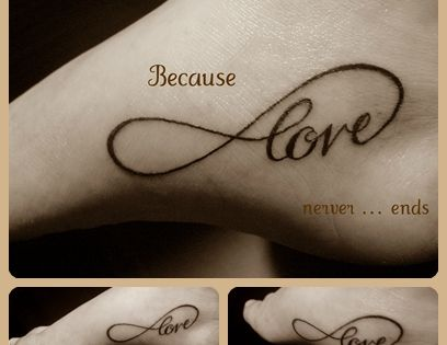 Infinity Love Tattoo....@Angie Wimberly florinchi @Abby Decker foreman @Amanda Snelson spalding @deb