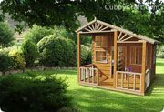 Sandlewood Lodge Cubby House Kids Playground Equipment Wooden Playground Cubby Houses Play Houses